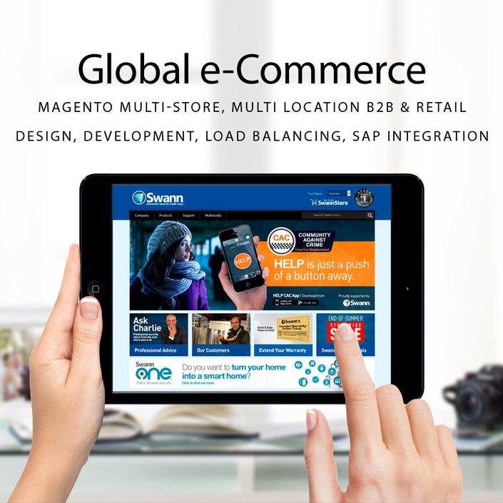 Magento eCommerce - Global B2B & Retail Commerce. SAP Integration. Multi site, multi currency. Custom Extension Development.